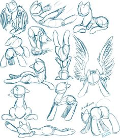 aand more pony skeches RULES: Always Give credit and a link to the original sketch! download for full size (^v°)/ YOU ARE ALLOWED: to use them as a reference for these poses to take commission...