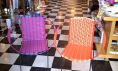 colorful woven mexican chairs from flashback: http://flashbackmemphis.com/