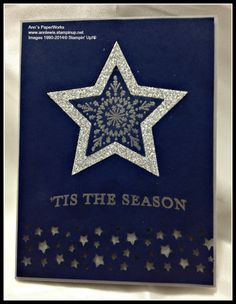 Many Merry Stars Stamp Set #Stars Framelits #Stampin' Up! by Ann Lewis #inlay card
