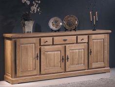 Mueble #aparador rustico formado por 4 puertas y 3 cajones de excelente acabado y calidad, en la web de muebles: http://rusticocolonial.es/
