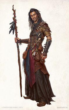 "menofcolorinfantasyart: ""From Characters for Pathfinder by Ekaterina Burmak """