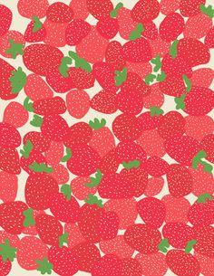 Fine Art Print. Fraises au sucre. 28 juillet par joreyhurley
