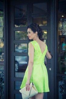 Flashy Neon Green Dress