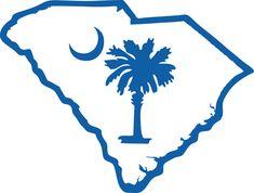 Palmetto and moon logo. South Carolina