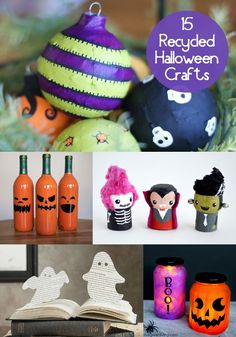 15 Budget Friendly Recycled Halloween Crafts