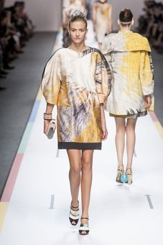 Love the shape and pattern of this dress (Fendi)