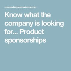 10 essential steps to create a winning sponsorship proposal know what the company is looking for product sponsorships fandeluxe Image collections