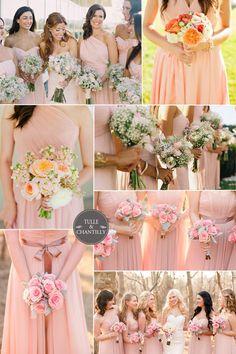 rose pink bridesmaid dresses spring 2015 inspiration