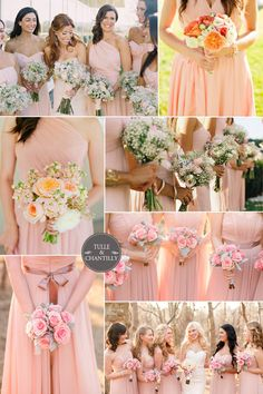 rose pink bridesmaid dresses spring 2015 inspiration #tulleandchantilly