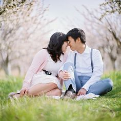 W - Cherry Blossom Engagements by The Brothers Wright, via Flickr