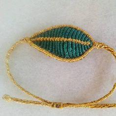 leaf macrame bracelet