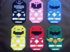 Power-Ranger Magnets by cecrafts on Etsy