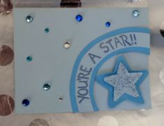 "paper craft-handmade ""you're a star"" card"