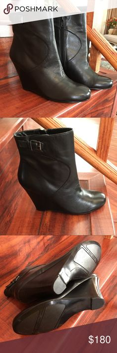 Nine West Leather Booties A stacked wedge adds just the right height to the booties .Very soft leather.Brand new . Size 7/5 & Other Stories Shoes