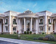 Al Hammam Villas Complex on Behance Classic House Exterior, Classic House Design, Duplex House Design, Modern Farmhouse Exterior, Dream House Exterior, House Outside Design, House Front Design, Classic Architecture, Facade Architecture