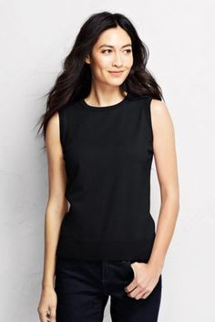 dc3cb50353dbb3 Women s Supima Sleeveless Sweater from Lands  End