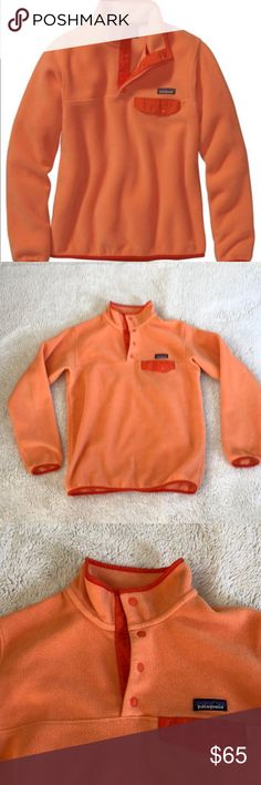 Patagonia Synchilla Fleece Orange Size M Patagonia women's Synchilla fleece in size medium. Worn and washed a handful of times. In great condition! Patagonia Jackets & Coats