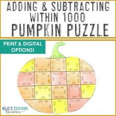Adding & Subtracting within 1000 Halloween Math Activities: Halloween Math Games | 2nd, 3rd, 4th grade, Activities, Autumn, Basic Operations, Google Apps, Halloween, Homeschool, Math Centers Math Games, Math Activities, Math Literacy, Homeschool Math, Upper Elementary Resources, Thanksgiving Math, Halloween Math, Adding And Subtracting, Critical Thinking Skills