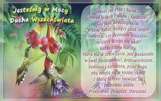 Jesteśmy w Mocy Ducha Wszechświata. Jesteśmy jak Ptaki i Kwiaty... wśród innych Ptaków i Kwiatów! Doskonali!  http://jasnowidzjacek.blogspot.com