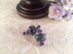 Lampwork Earrings Boro Earrings Cluster by impressionsaremade, $27.00