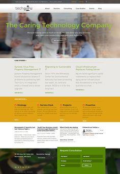 Web Design and Development by Windmill Design for Tech Guru IT