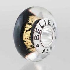 "Boston Bruins ""Believe"" bead ~ looking forward to hockey season starting up again!"