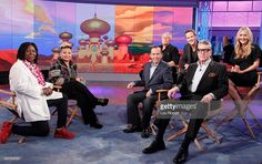 "Reunion with the cast of Disney's 'Aladdin, Linda Larkin in Mantù, Tuesday, October 13, 2015 on ABC's ""The View"" #mantù #fw2015 #blackdress #kimonodress"
