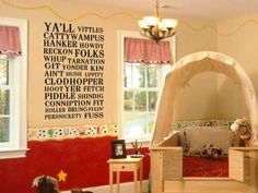 Perfect decal for Nolan and PJ's room. We're doing their room cowboy/cowgirl! Painting this weekend!! :)
