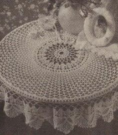 Free Crochet Patterns For Round Tablecloths : 1000+ images about Crochet - Tablecloths on Pinterest ...