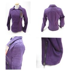 "Yoki Women's Outerwear Coat Side Zipper Jacket Yoki light/medium weight asymmetric zipper jacket 90% Polyester 10% Wool. The lining is 100% Polyester. The first picture shows the coat in purple in order to show the coat details. The available coat is Black. From armpit to armpit 21"" with the coat zipped, from shoulder to hem 25"", zipped the waist is 20"" across. From under the armpit to the end of the sleeve 19"". From the top of the shoulder to the end of the sleeve 25 1/2"". Yoki Jackets…"