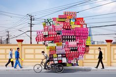 Conceptual photography project by French photographer Alain Delorme called 'Totems'.