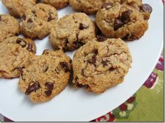 healthy chocolate chip cookies {uses almond flour, maple syrup, coconut oil}.
