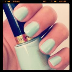 Summer nail color (Revlon - Minted)
