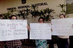 RN POLITICA EM DIA: MANIFESTAÇÃO NO TRE COBRA CONCLUSÃO DE JULGAMENTO ...