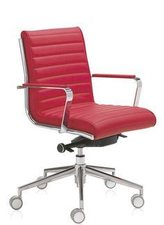 ¿Nos atrevemos con el color rojo para la #oficina? #SiilaOficina de respaldo bajo