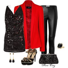 """Holiday Office Party"" by keri-cruz on Polyvore"