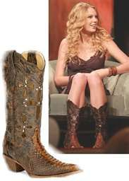 Taylor in Corral boots <3