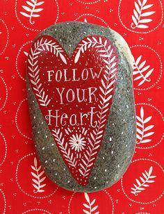 Nantucket Mermaid: Valentine's Day Heart Rocks
