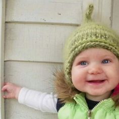 The CUTEST baby hat we've ever seen. A perfect winter baby hat that is hand-knit with super soft yarn. Shaped like a pixie for the ultimate in adorableness. Handmade and made in Michigan. Select the color of your choice. Look like a who from whoville with this baby hat. $22.00. http://aftcra.com/boondocksbabies/listing/370/elf-baby-hat-pixie-baby-hat