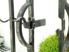 Oxley Gate latch and receiver, handmade by Tom Fell - Blacksmith