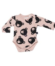 f493011b0 Huxbaby super soft long sleeve onesie with falling bears print. Fawn unisex  design. 100