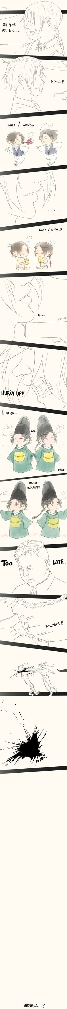[Korea] Brother by vorabend-taboo.deviantart.com on @deviantART Talk about heartbreaking