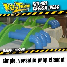 Simple & versatile pipe element. this is a prop element from our 2005/06 set. this set accent is very easy to make, and can be used in many different ways...   - INSTAGRAM VIDEO - (click to play) -   for full description follow the Instagram Link -  See more tips tricks & ideas: #kidsetdesign - #kidmin #kidschurch #vbs #kidsministry #kidsmin #childrensministry