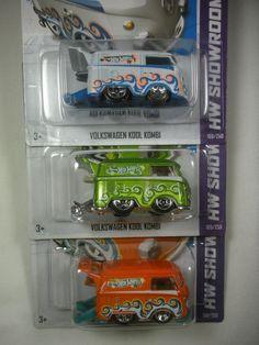 """Hot Wheels- """"Volkswagen Kool Kombi""""- New for 2013-  Green, White & Orange…"""