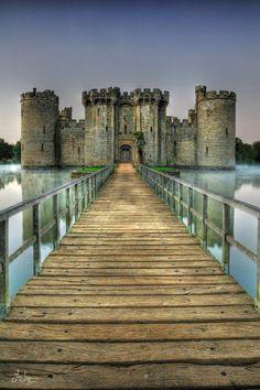 Castillo Bodiam, Sussex de Este, Inglaterra