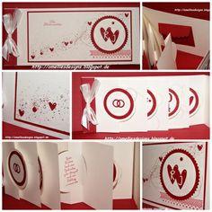 Stampin UP , Hochzeitskarte, Wedding Card , Chili, Thinlits Circle Card Minialbum