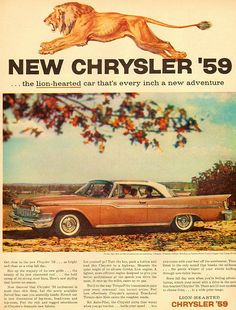 We love this classic Chrysler car ad for the 1959 Chrysler! Check it out!