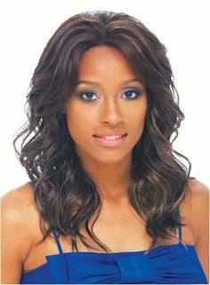 """Synthetic Full Lace CONNIE wig by Janet Collection-color-FS4-30 by Beauty Plus Trading Inc. $36.99. Style: Loose big waves, side bangs. Lace on front (from ear to ear) and on back.. Length: approximately 16"""". Color displayed on model: FS4/27. Synthetic full lace wig made by Janet Collection."""