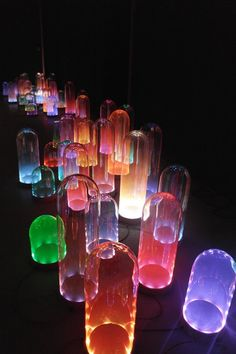 Dutch Design Week 2013: Amsterdam designers Studio Drift have created a series of colour-mixing LED lamps with hand-blown glass domes.