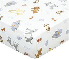 DwellStudio Crib Sheet- Safari Multi - Free Shipping